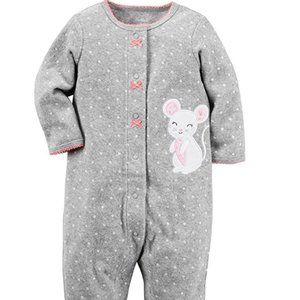 Carters Baby Girl Terry Snap Footie onesie sleeper